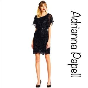 sequin beaded cocktail dress